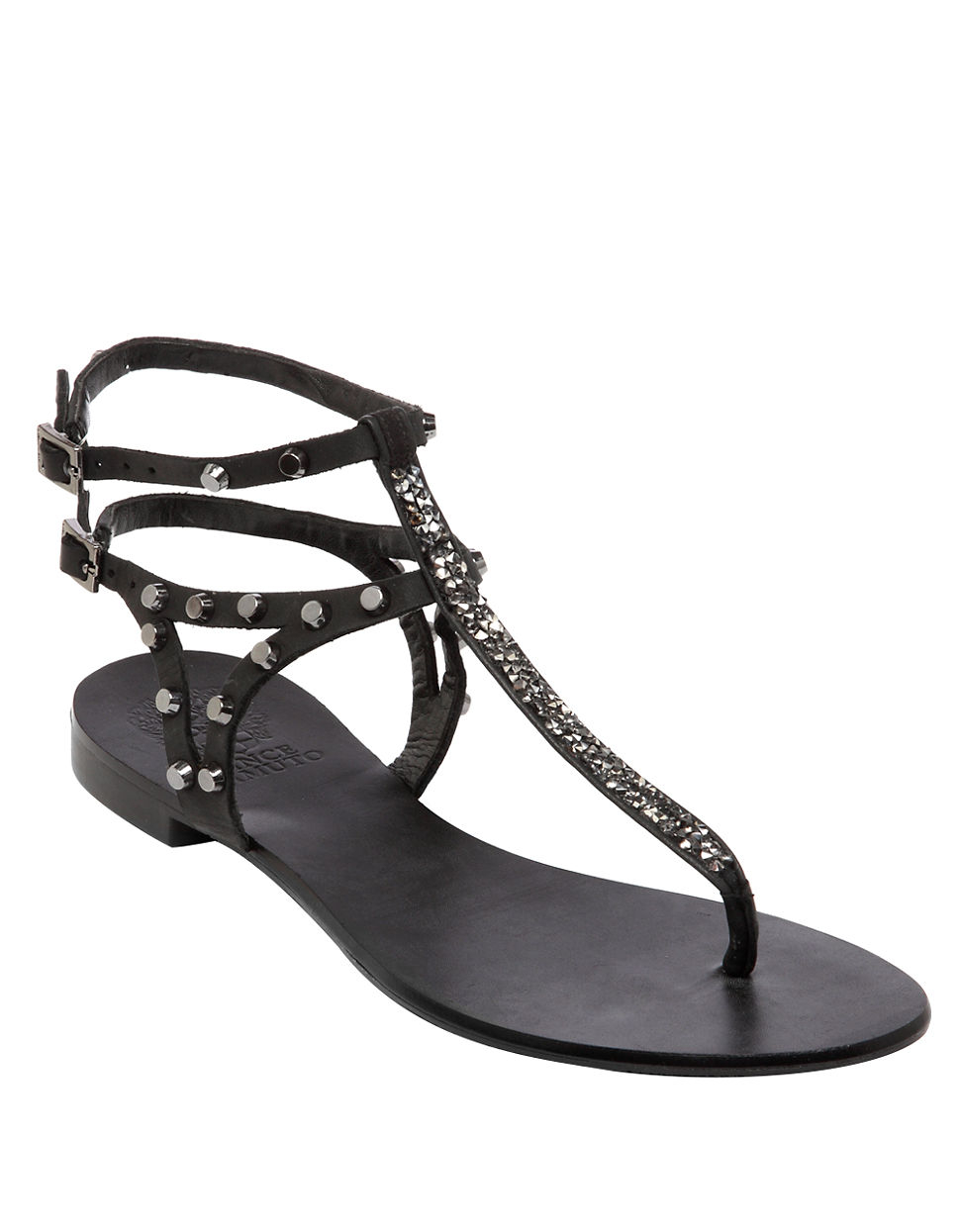 Lyst Vince Camuto Jemile Flat Thong Sandals In Black