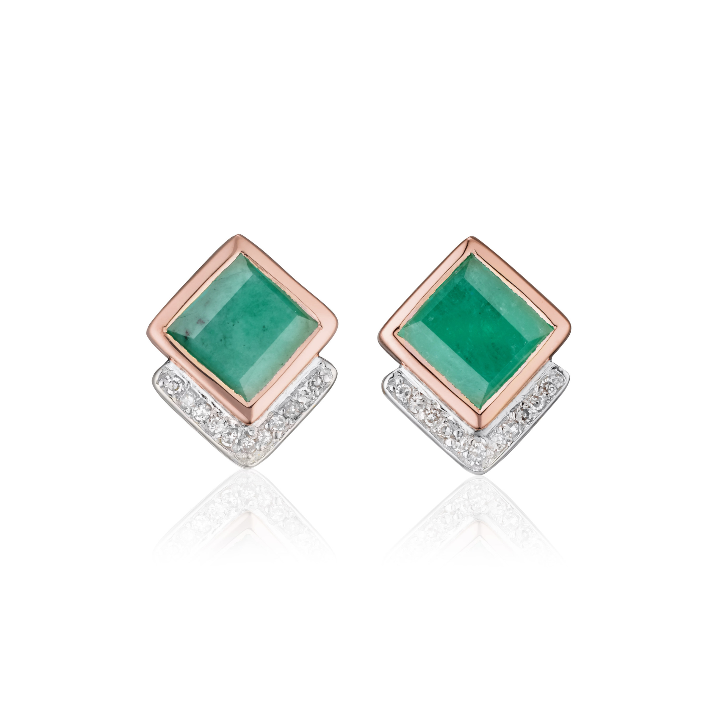 swarovski stud pink element studs green trendy emerald rivoli earrings