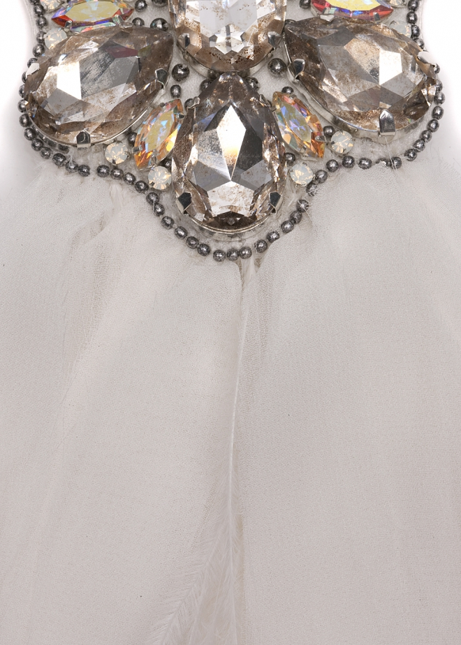 Matthew Williamson Swarovski Crystal Brooch in White (Ivory)