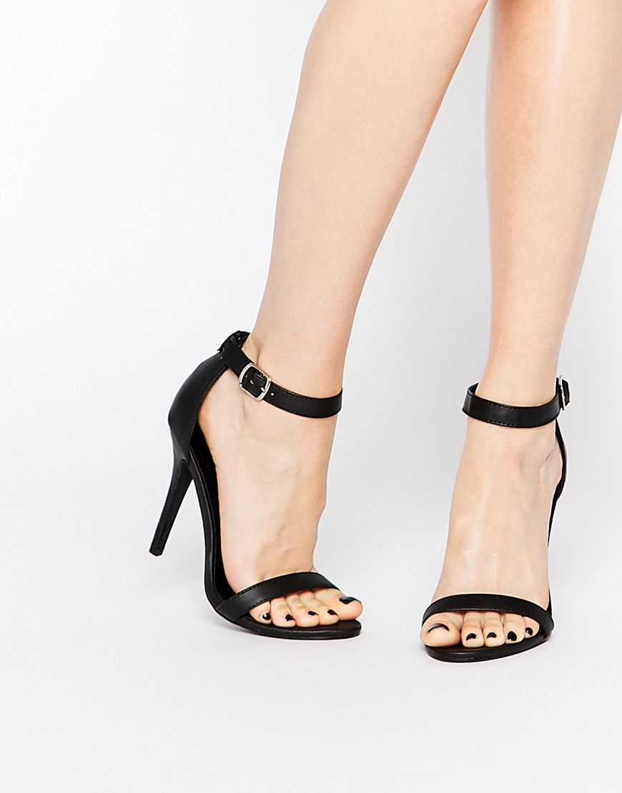 Free Shipping Factory Outlet Buy Cheap 100% Authentic Call It Spring Ahlberg Satin Barely There Heeled Sandals - Black Call It Spring V2aEAYD8