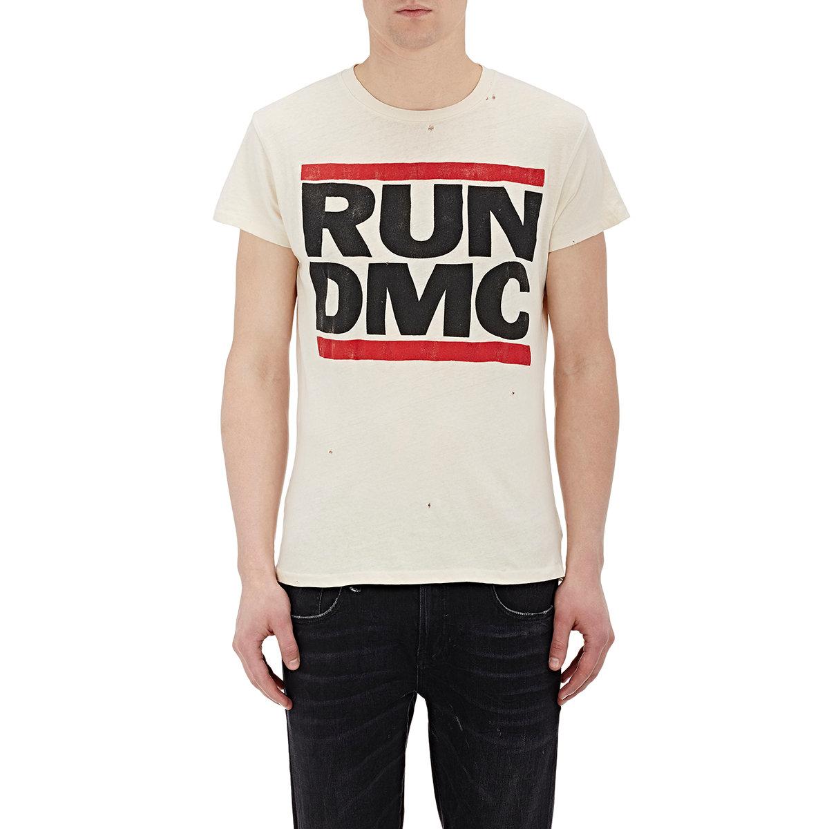 lyst madeworn men 39 s run dmc t shirt in white for men. Black Bedroom Furniture Sets. Home Design Ideas