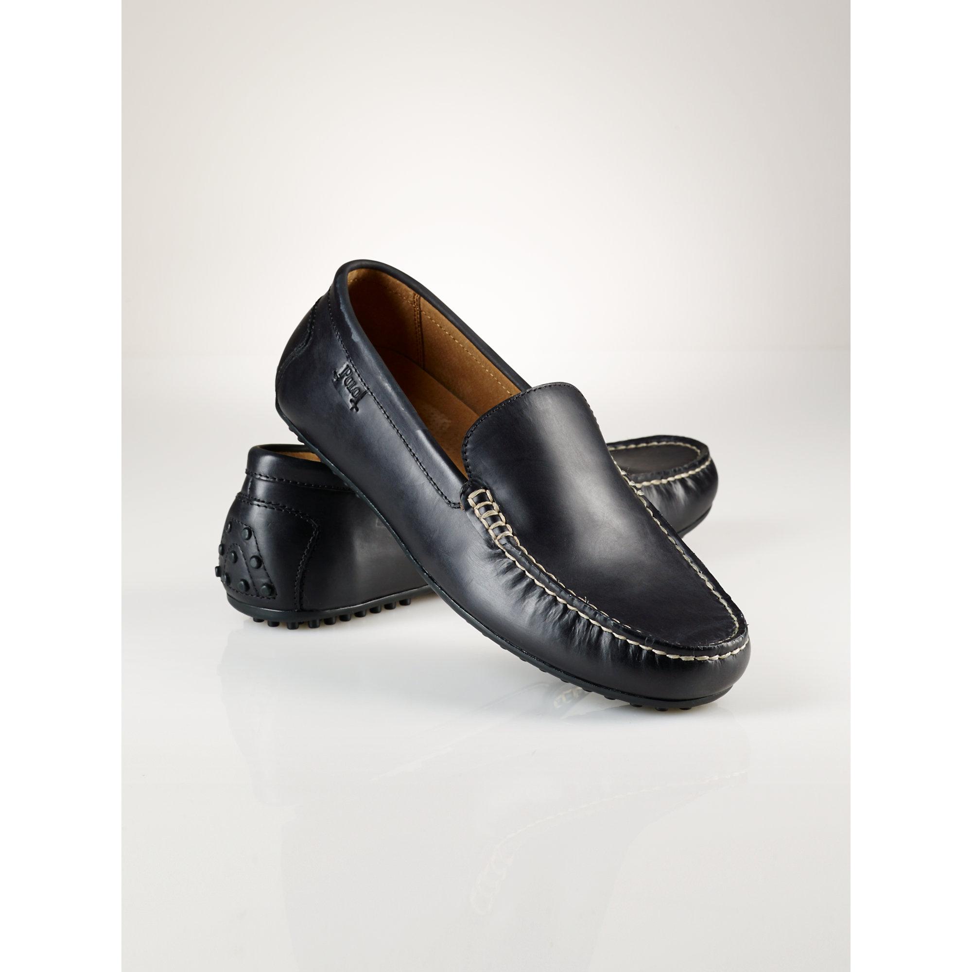 6181590ea65d6 Polo Ralph Lauren Woodley Slip-On Shoe in Black for Men - Lyst