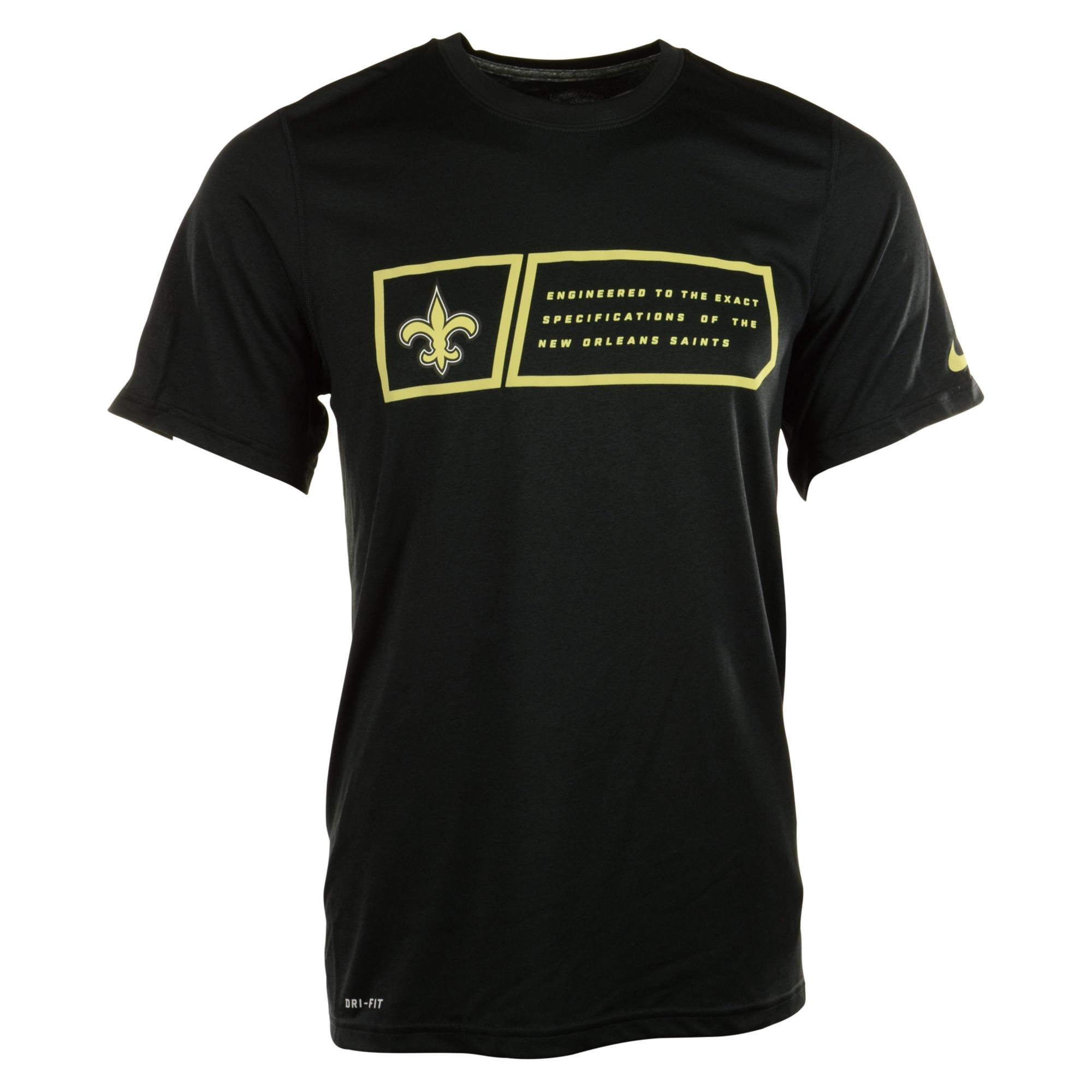 Nike mens new orleans saints legend jock tag tshirt in for T shirt printing new orleans
