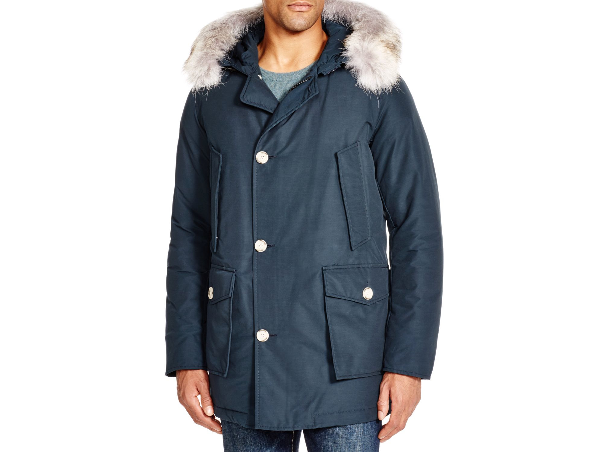 woolrich arctic down parka in blue navy lyst. Black Bedroom Furniture Sets. Home Design Ideas