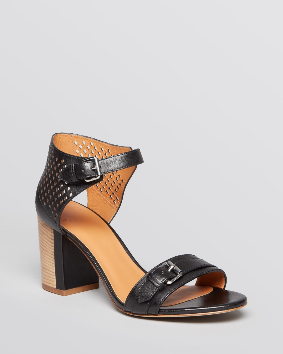 92b1e038a0d6 Lyst - Marc By Marc Jacobs Block Heel Ankle Strap Sandals in Black