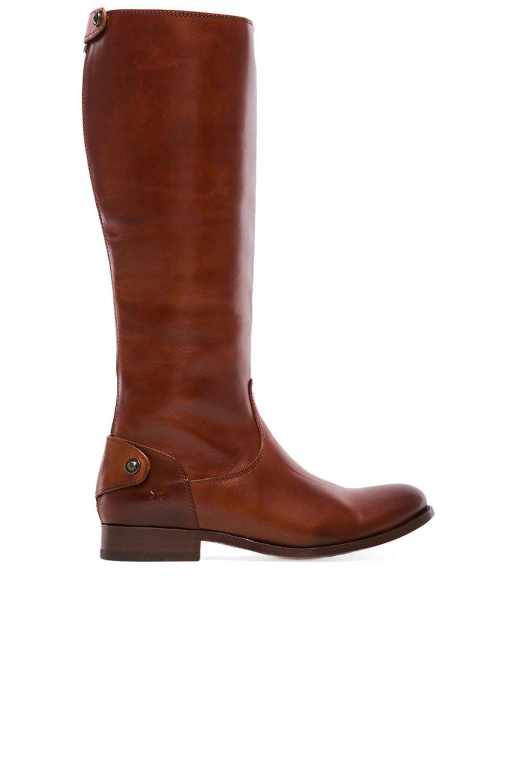 dde6c09c7cd Lyst - Frye Melissa Button Back Zip Boot in Brown