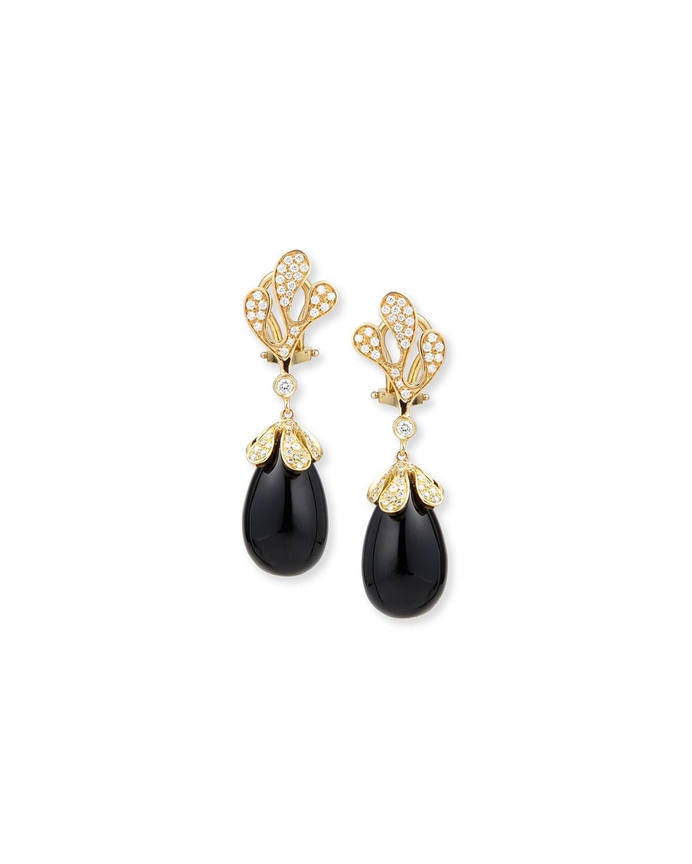Miseno Sealeaf Small 18k Gold Drop Earrings E6hlLC9