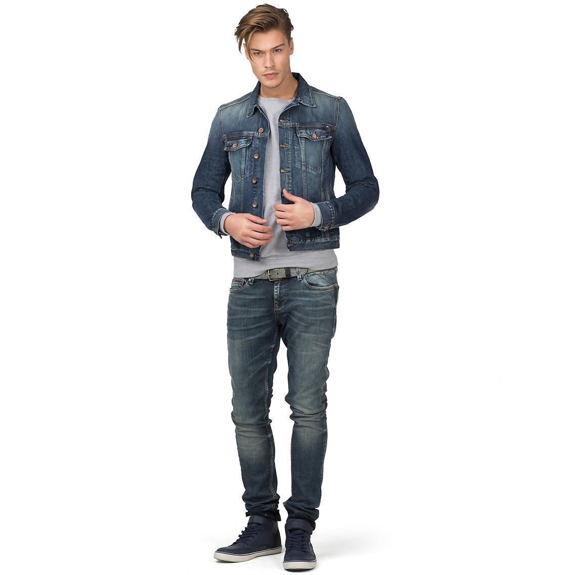 tommy hilfiger iggy denim jacket in blue for men lyst. Black Bedroom Furniture Sets. Home Design Ideas