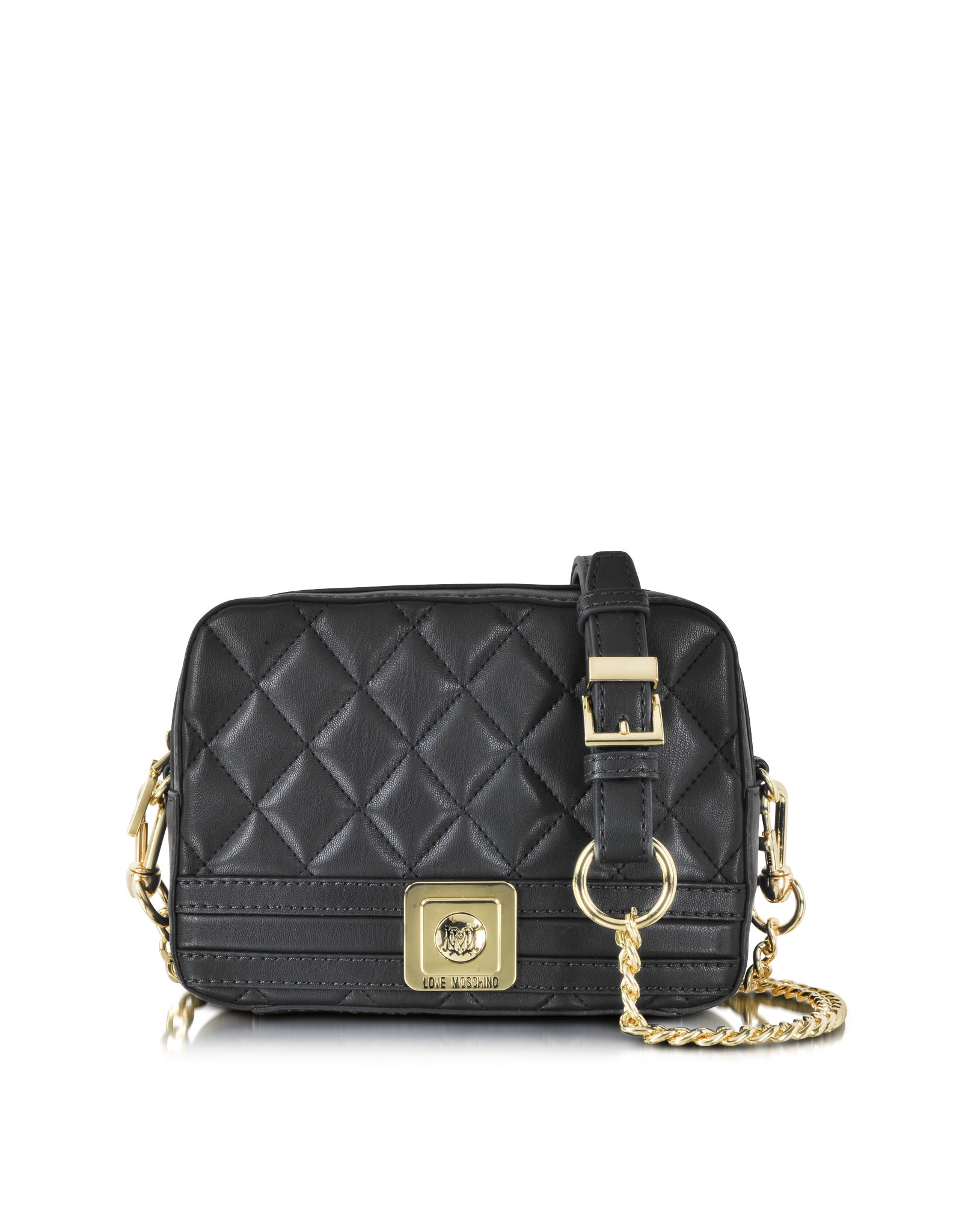 Lyst Love Moschino Quilted Eco Leather Crossbody Bag In