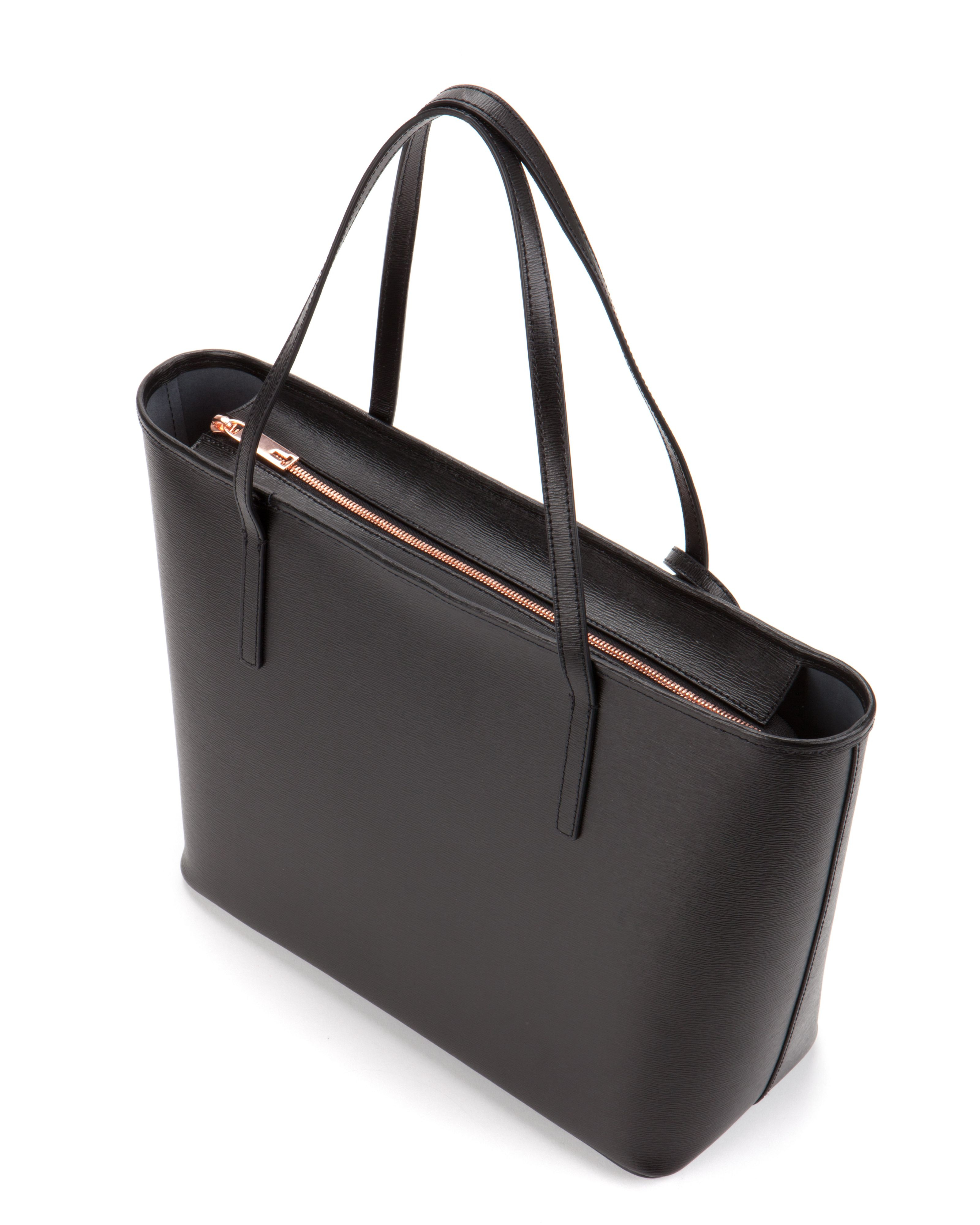 Ted baker Bonnita Bow Detail Leather Shopper Bag in Black ...