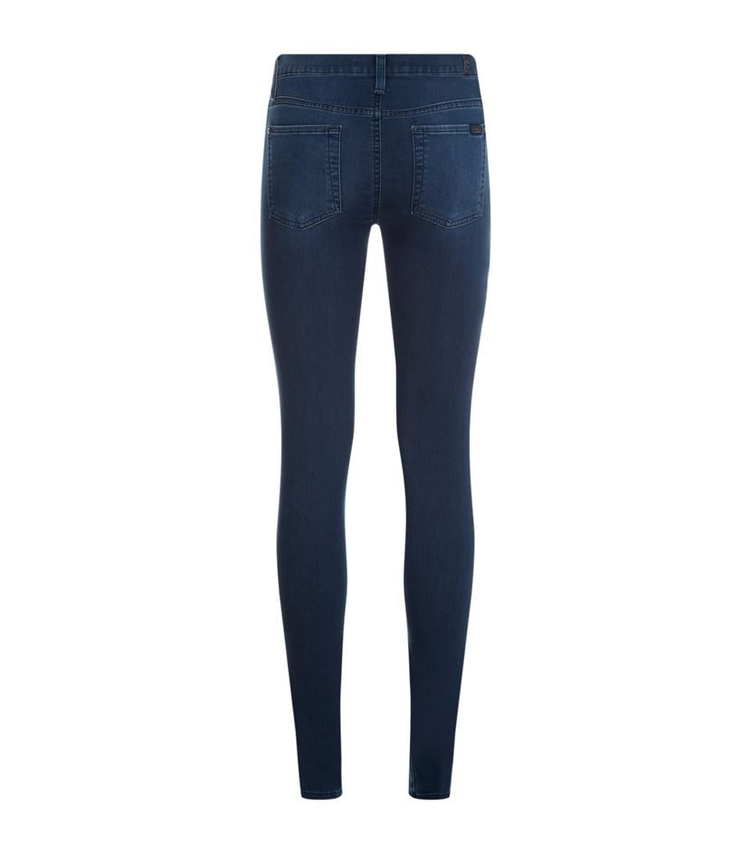 for all mankind the skinny delight denim jeans in blue lyst. Black Bedroom Furniture Sets. Home Design Ideas
