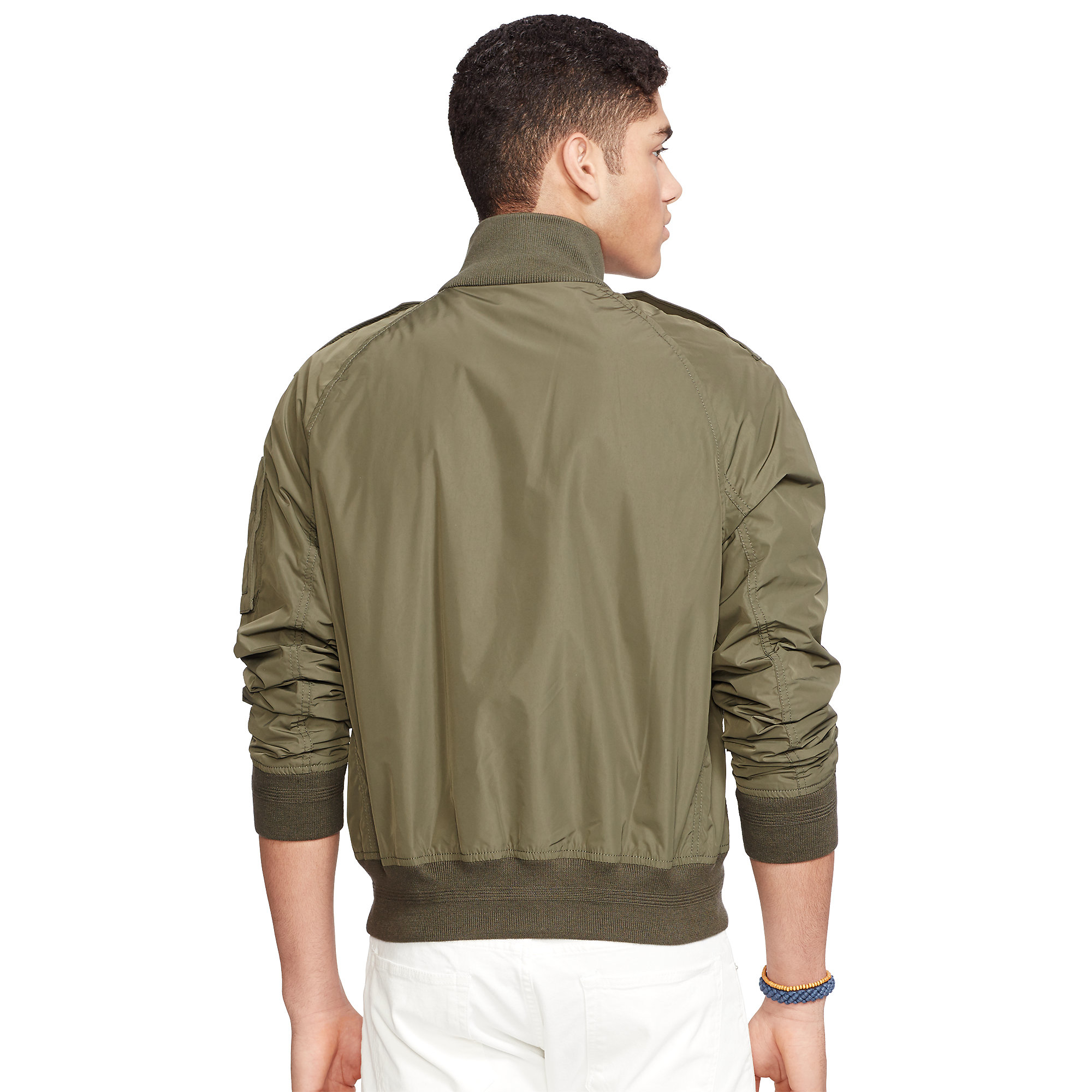 lyst polo ralph lauren bomber jacket in natural for men. Black Bedroom Furniture Sets. Home Design Ideas