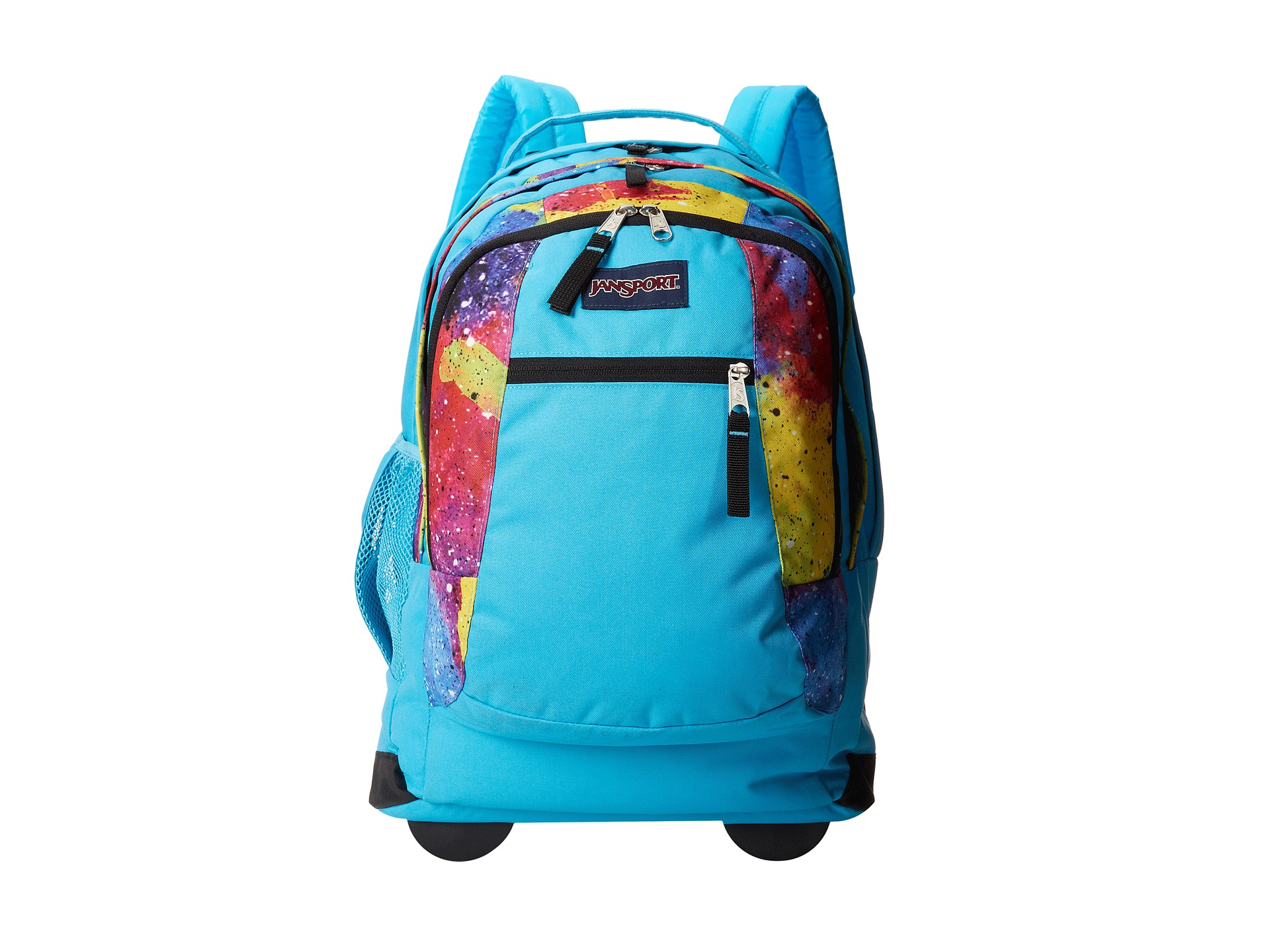 Jansport Driver 8 Wheeled Backpack in Blue (Multi Neon ...