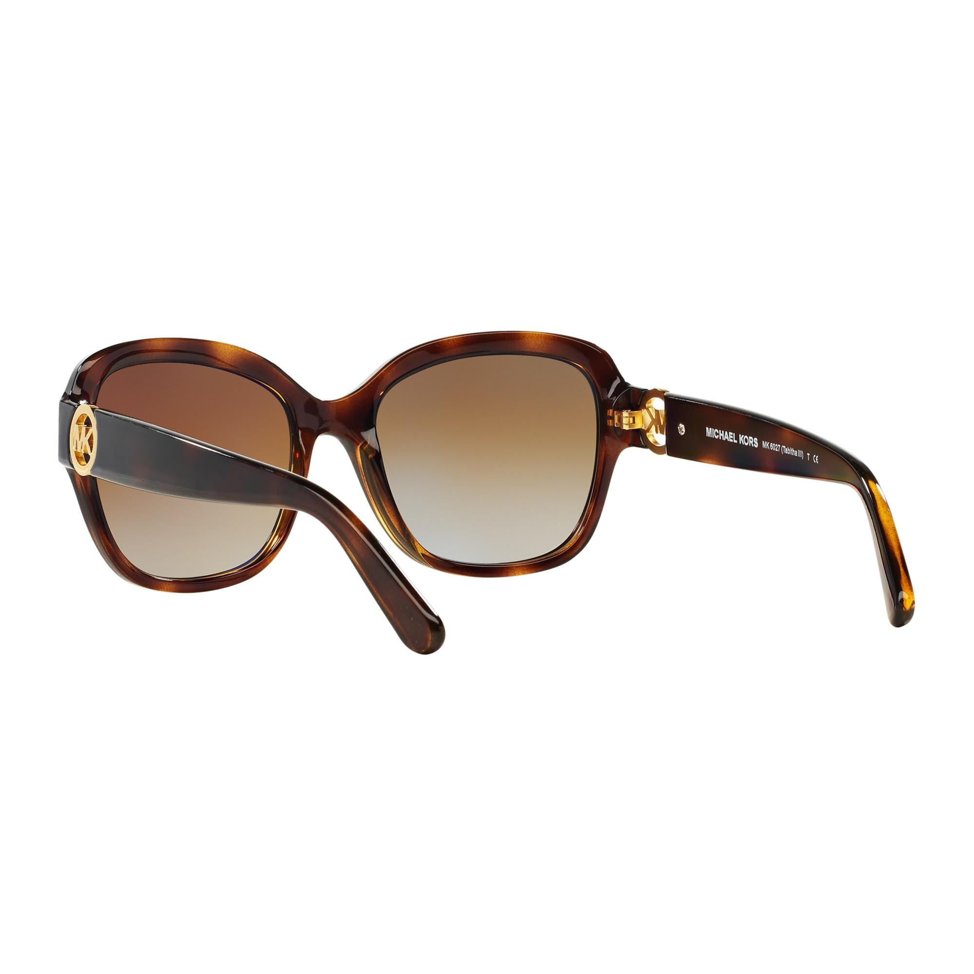 5041976f2d Michael Kors Mk6027 Tabitha Iii Polarised Square Sunglasses in Brown ...