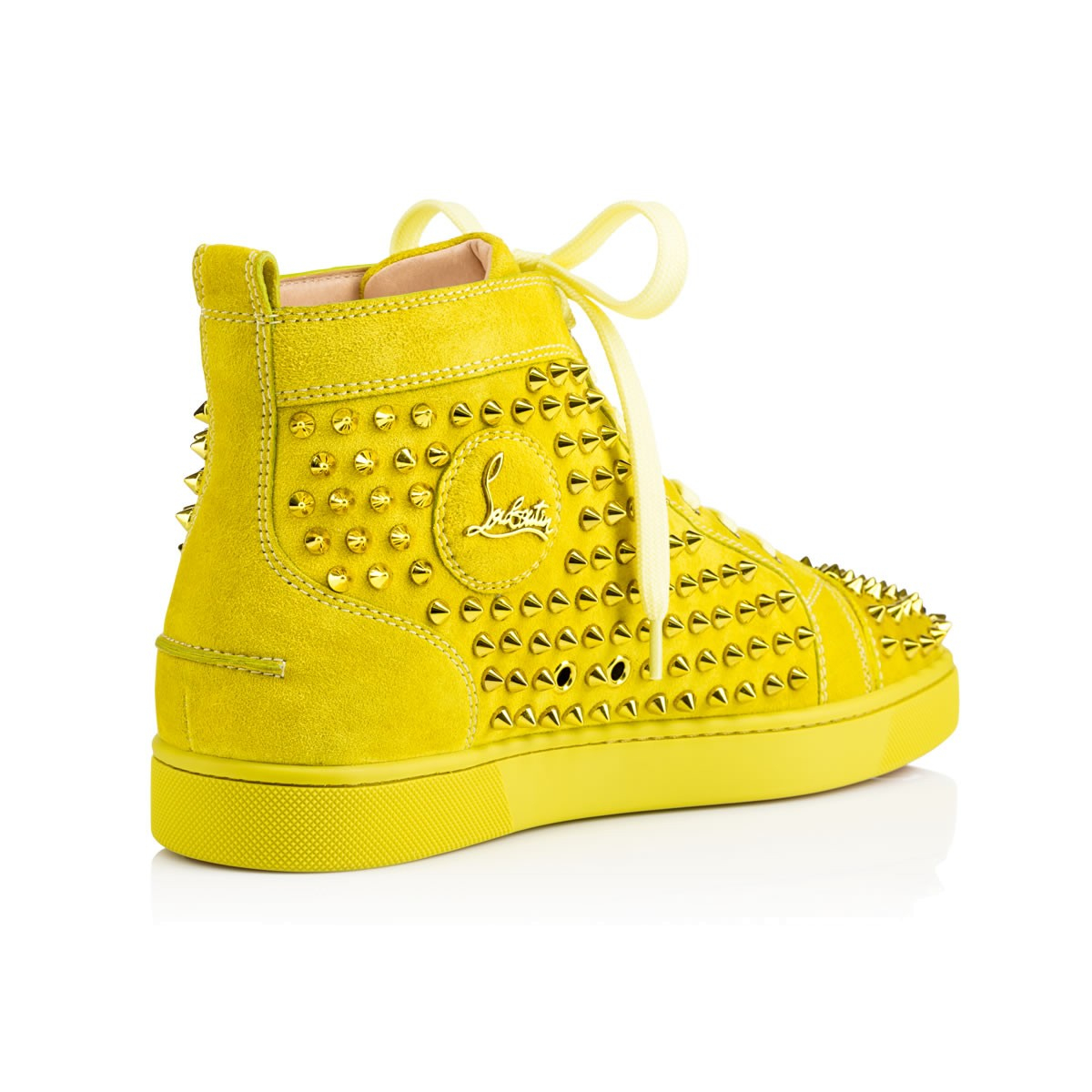 a228a65a9491 Lyst - Christian Louboutin Louis Spikes Men S Flat in Yellow for Men