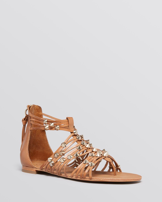 ash flat gladiator thong sandals medusa in brown cookie. Black Bedroom Furniture Sets. Home Design Ideas