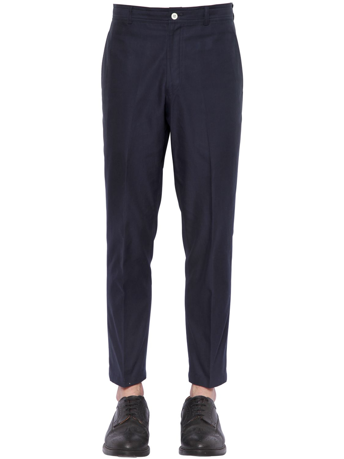 Thom browne Cotton Twill Chino Pants in Blue for Men | Lyst