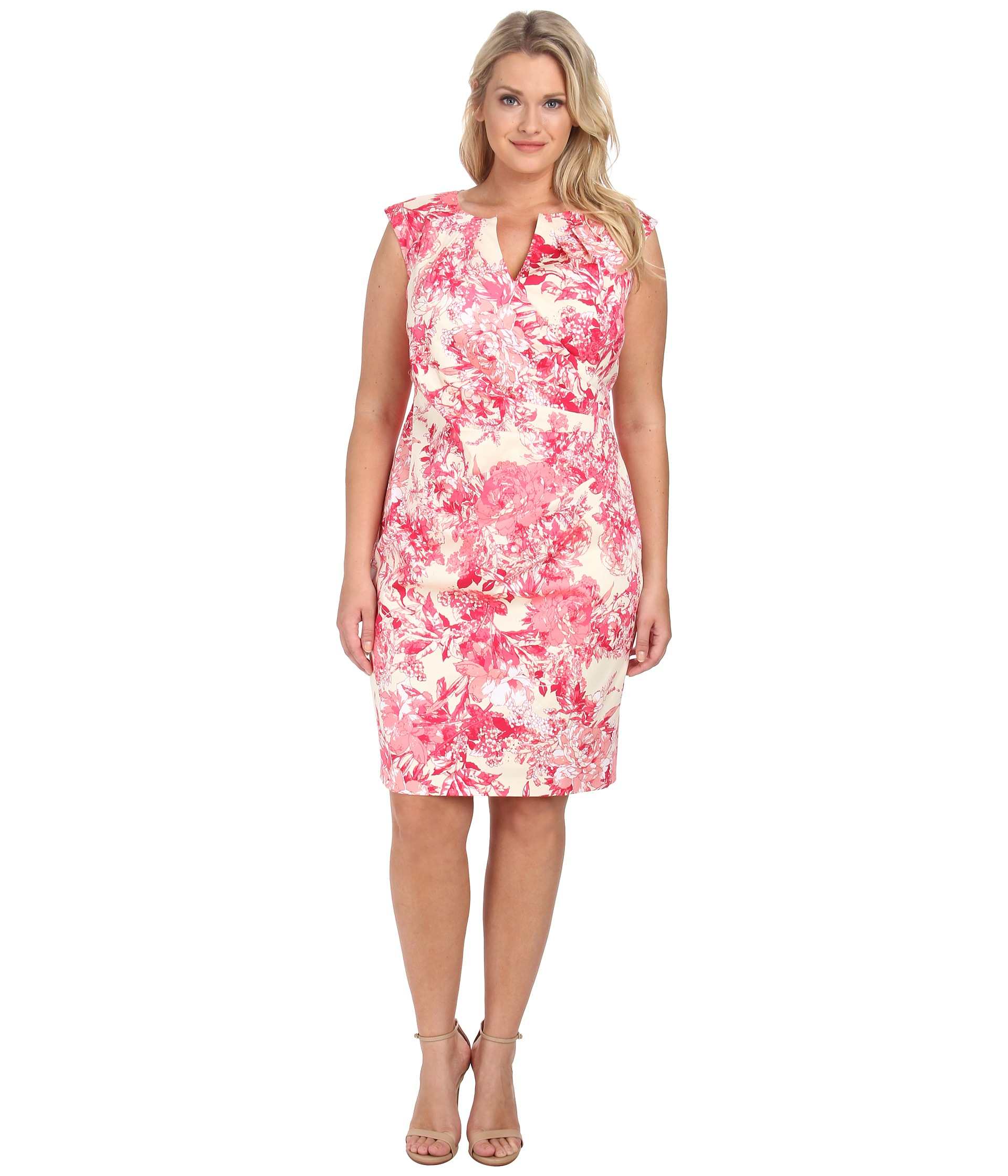 f36993c9167 Gallery. Previously sold at  Zappos · Women s Adrianna Papell Floral Dress  ...
