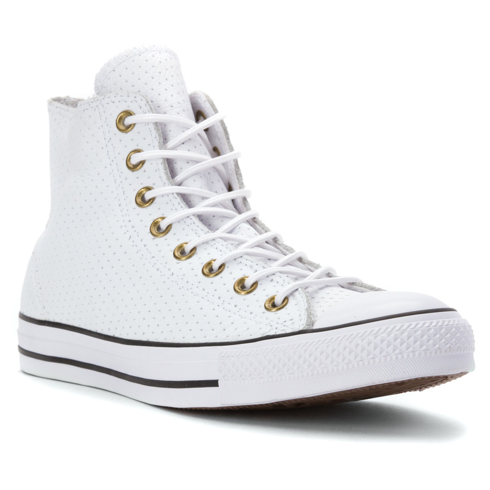 Lyst - Converse Chuck Taylor All Star High Top Perf Leather Sneaker ... 36e54f0c8