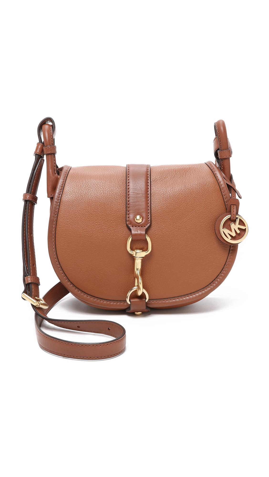 b267ea0cffe Lyst - MICHAEL Michael Kors Jamie Saddle Bag in Brown