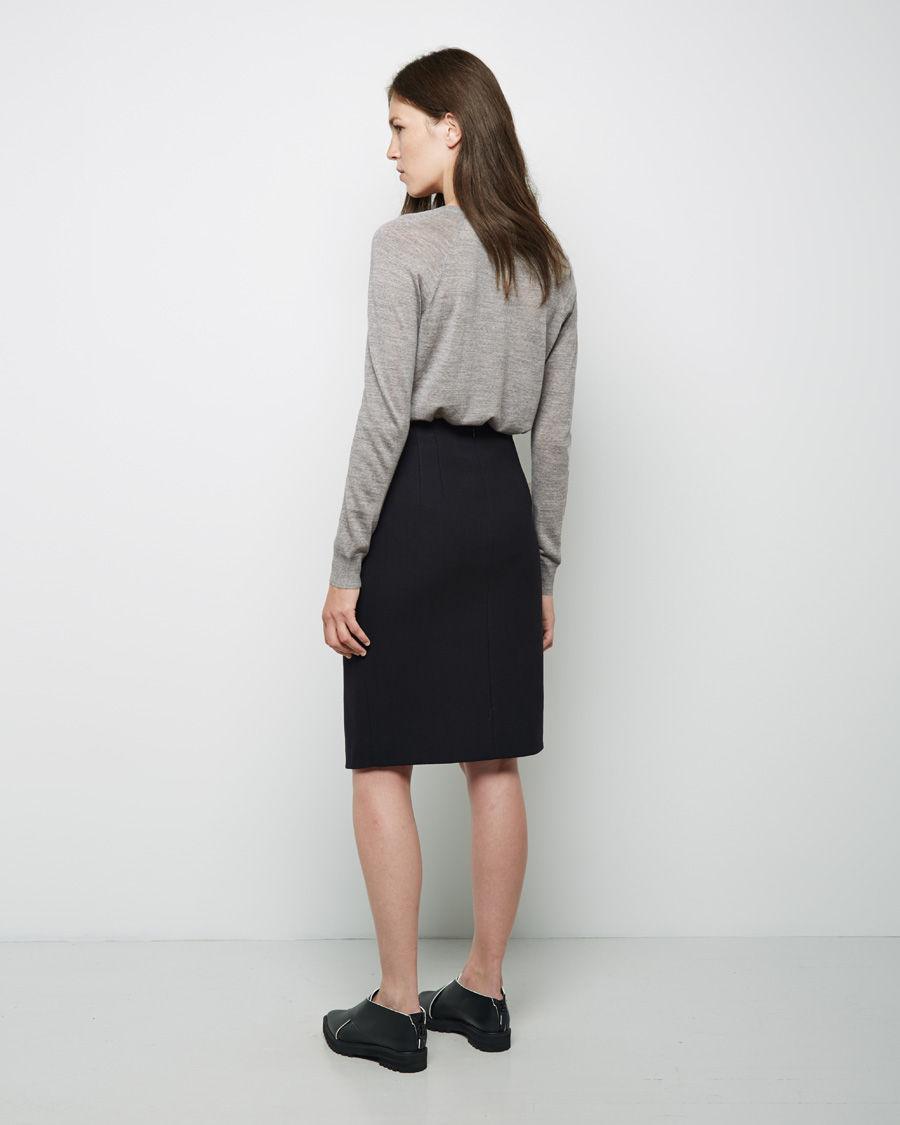 proenza schouler front slit pencil skirt in black lyst