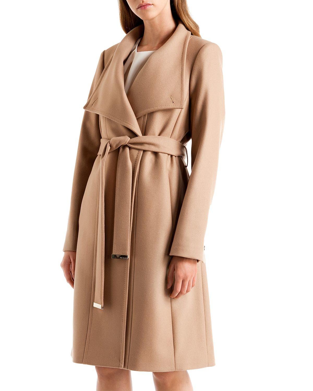 konkurrenzfähiger Preis gut aussehend großer Rabatt Ted Baker Natural Lorili Long Wrap Coat