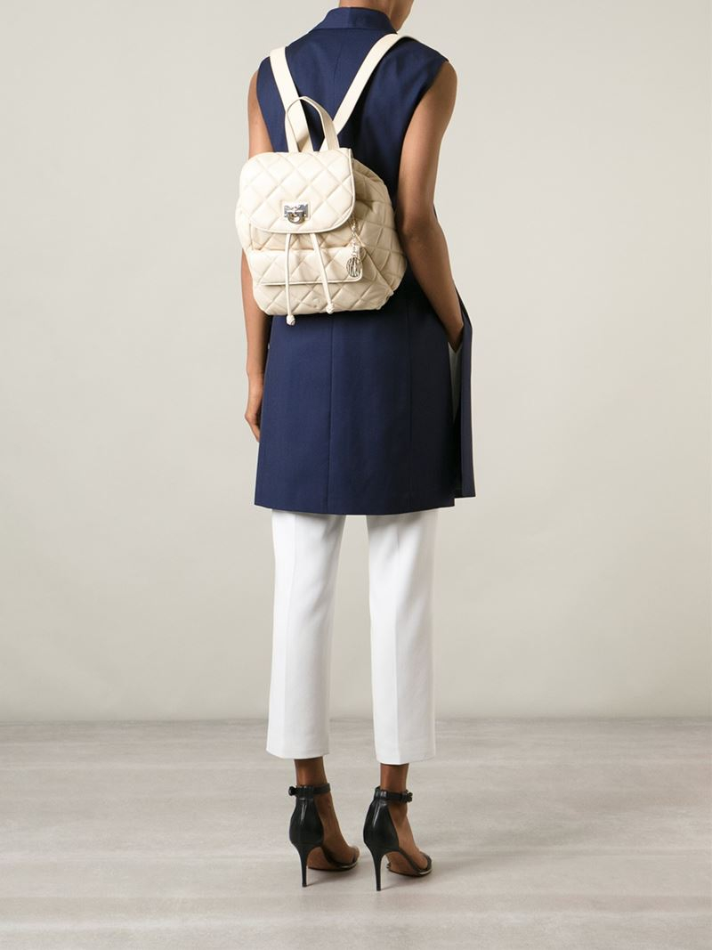 Dkny Quilted Backpack in Natural | Lyst : dkny quilted rucksack - Adamdwight.com