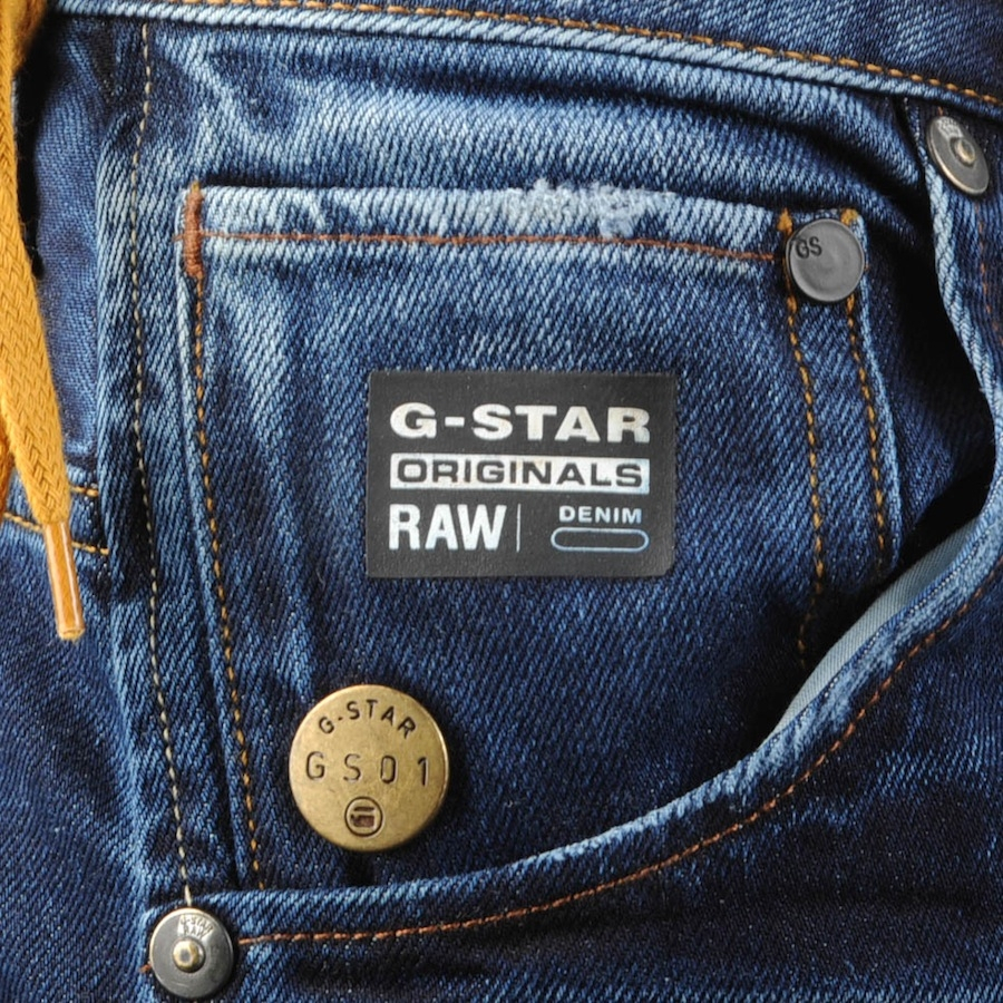 g star raw arc 3d slim jeans in blue for men indigo aged. Black Bedroom Furniture Sets. Home Design Ideas