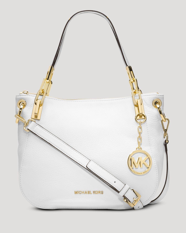 1b1e416487a ... promo code for lyst michael michael kors shoulder bag brooke medium in  white 519eb d9f12