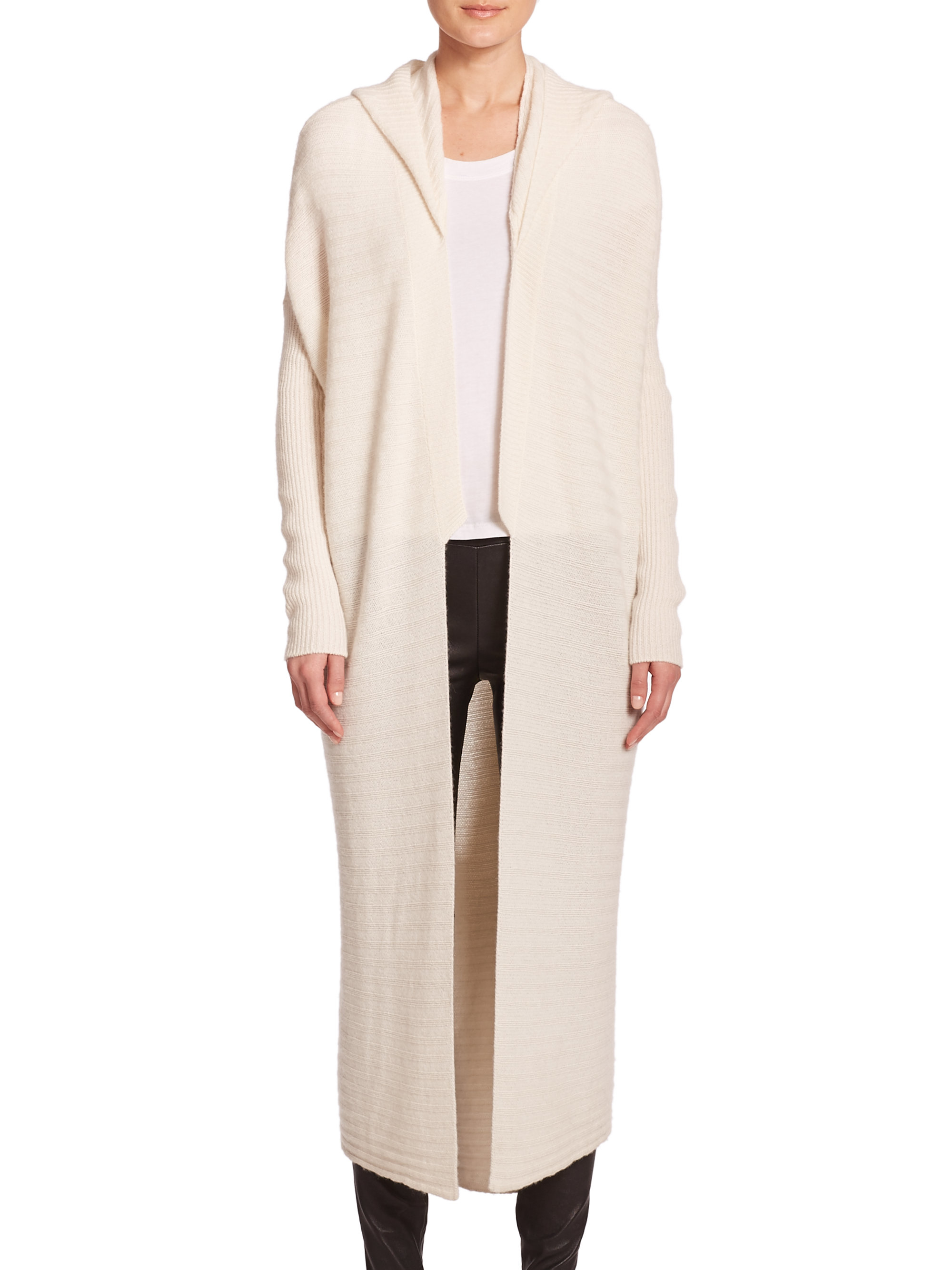 Alice + olivia Wool/cashmere Oversized Sweater in Natural | Lyst