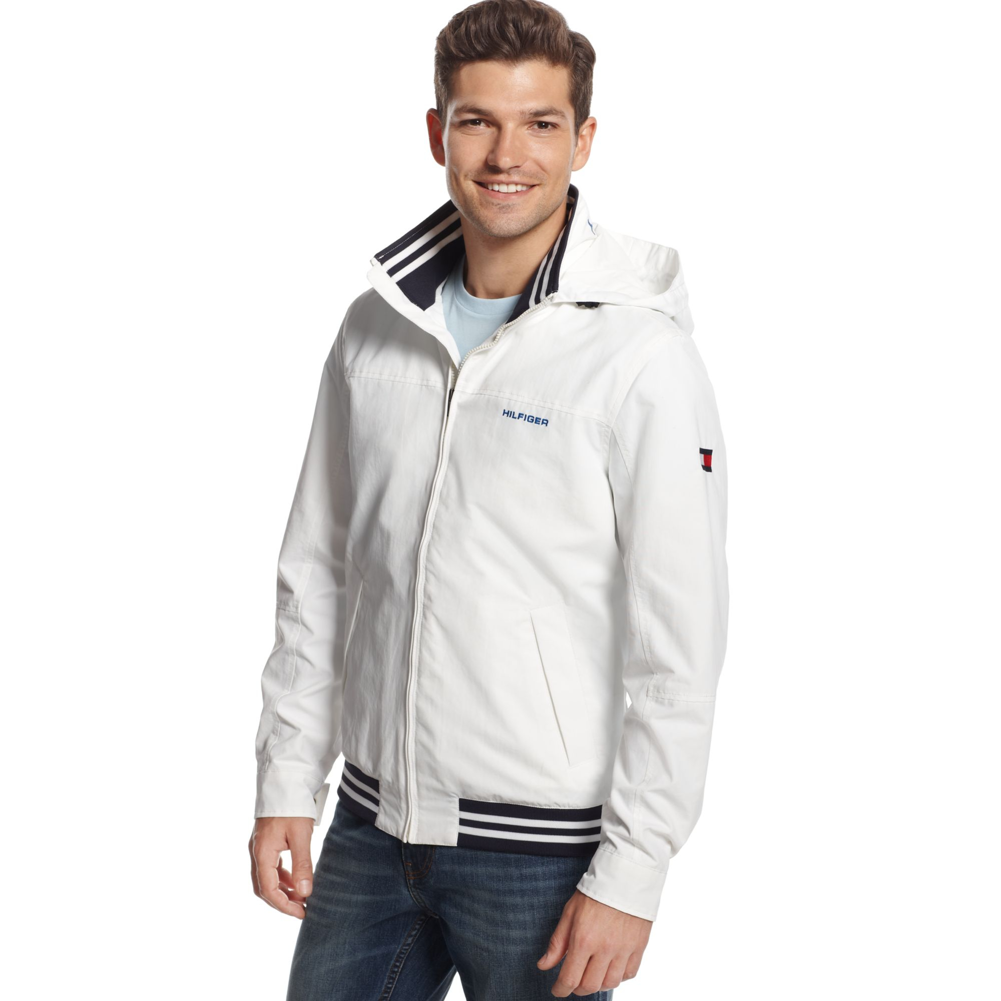 tommy hilfiger regatta jacket in white for men classic. Black Bedroom Furniture Sets. Home Design Ideas