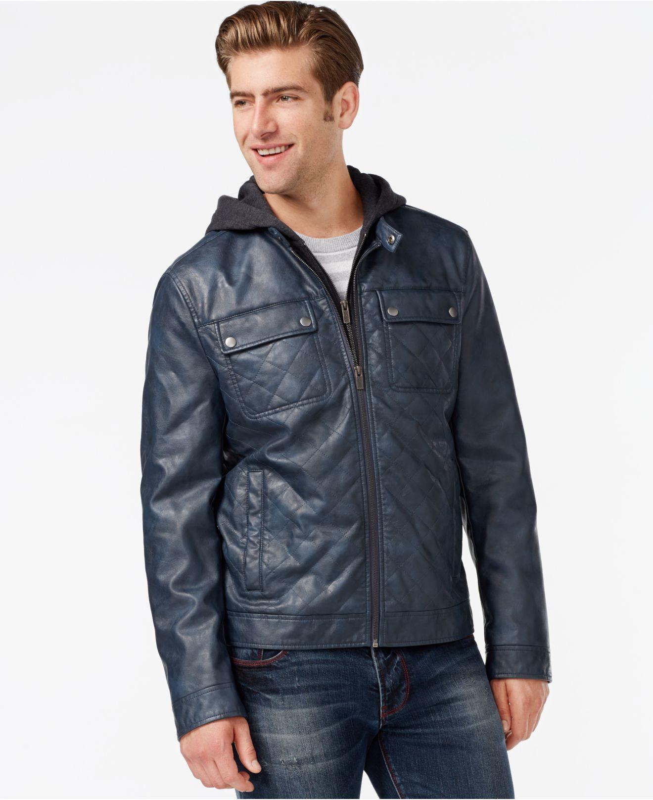 Leather Er Jacket Men - Caffection