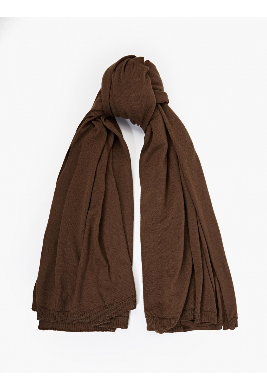 rick owens brown wool scarf in brown for lyst