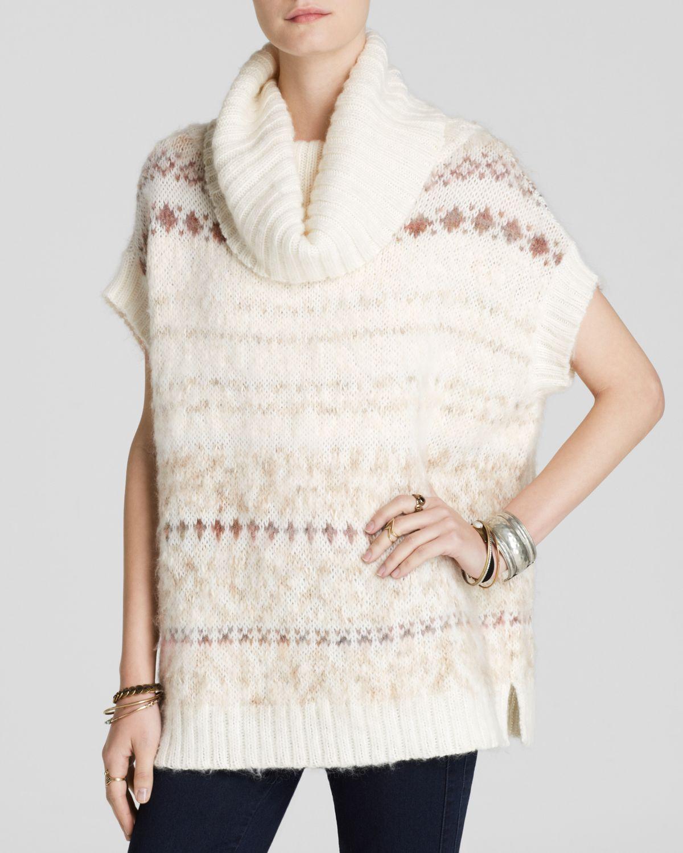 Free people Sweater Vest - Snow Bunny Fair Isle Turtleneck in ...