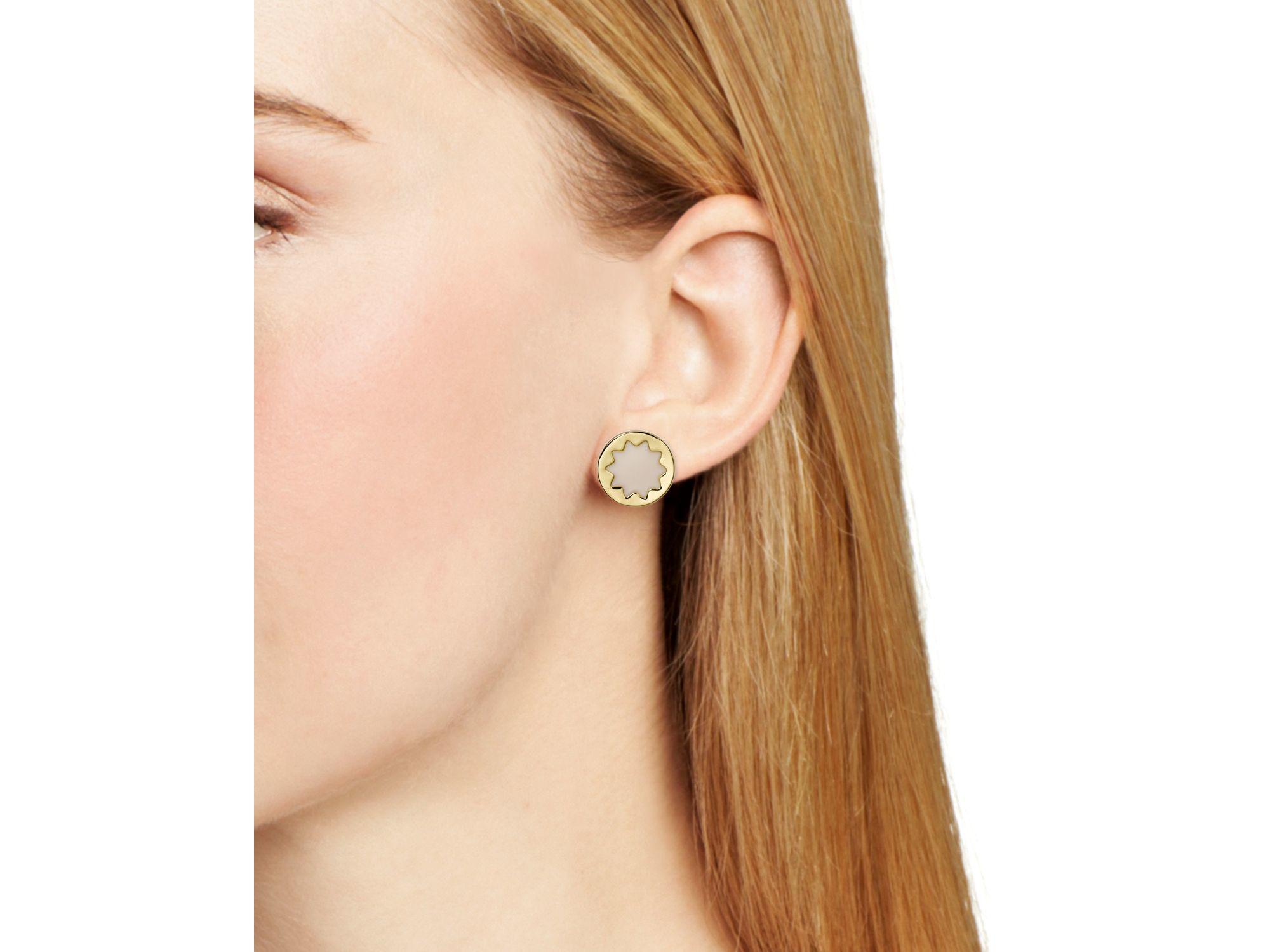 House Of Harlow 1960 Enamel Sunburst Stud Earrings In