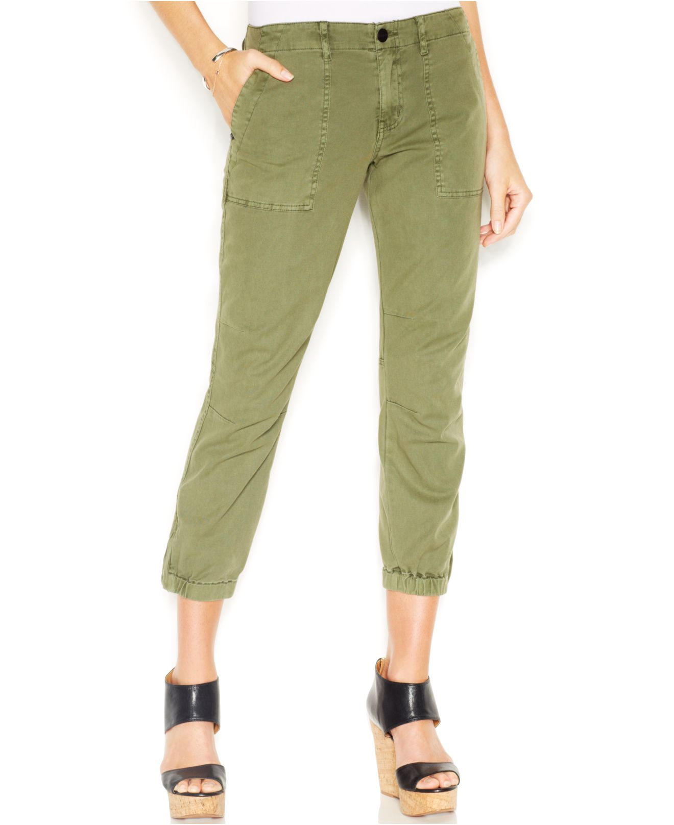 Innovative Women Camoflauge Army Jogger Pant Capri Army Pants 2sizes SM LXL Green