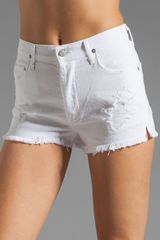 Citizens Of Humanity Chloe Cut Off Short in White (distressed stark) - Lyst