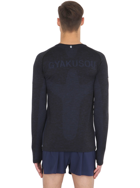 fb9ede27 Nike Dri-fit Knit Long Sleeve Top in Black for Men - Lyst