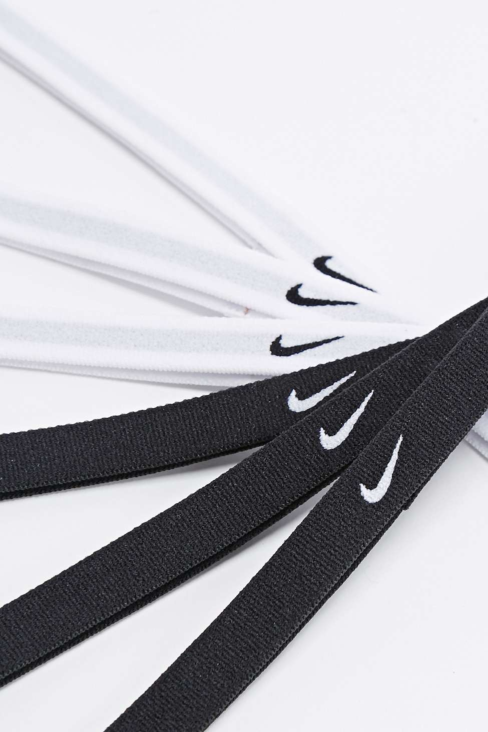 Nike Swoosh Headband 6-Pack In Black And White in Black - Lyst c1a21dfa8d5