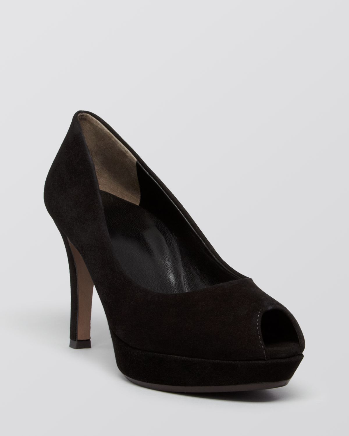 paul green peep toe platform pumps playa high heel in black lyst. Black Bedroom Furniture Sets. Home Design Ideas