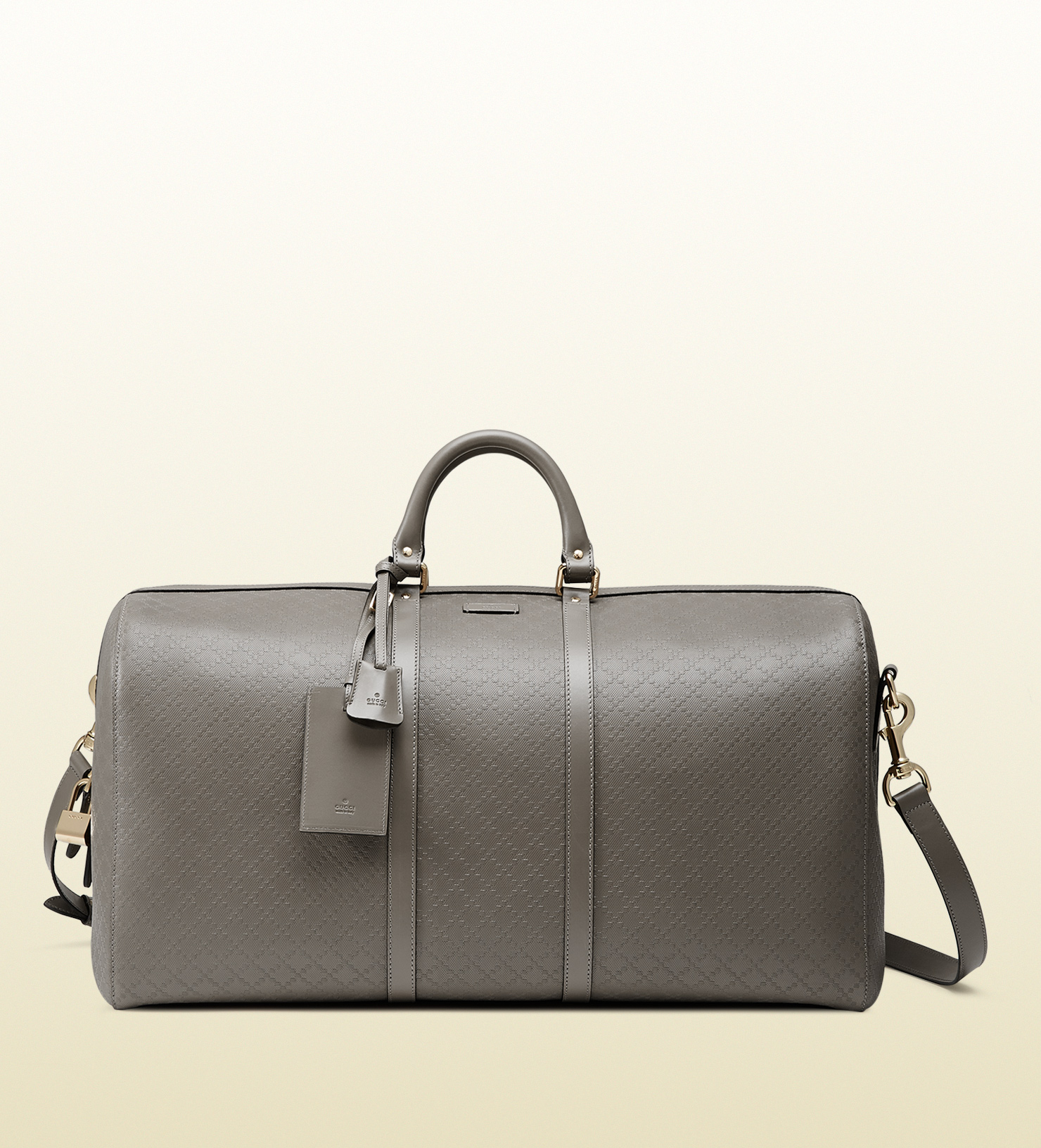 c0e19e4d63a138 Gucci Bright Diamante Leather Carry-on Duffle Bag in Gray for Men - Lyst