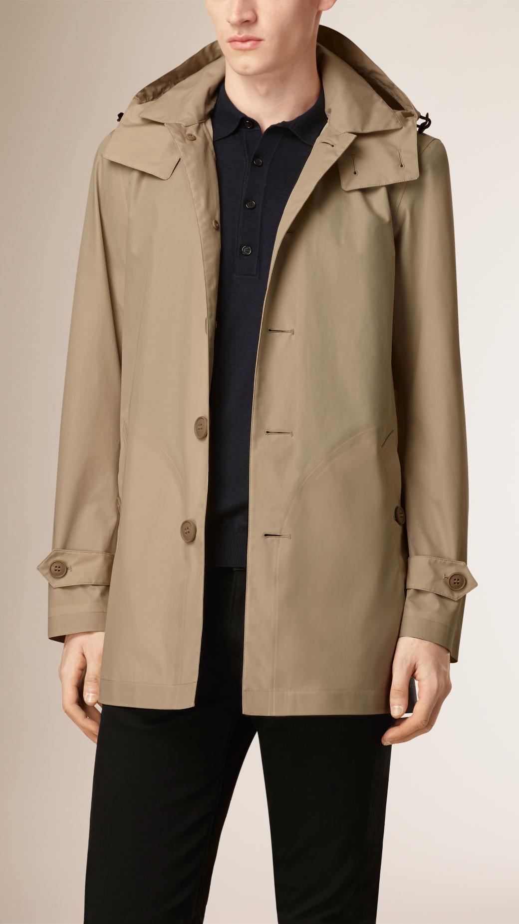Burberry Lightweight Cotton Car Coat in Natural for Men | Lyst