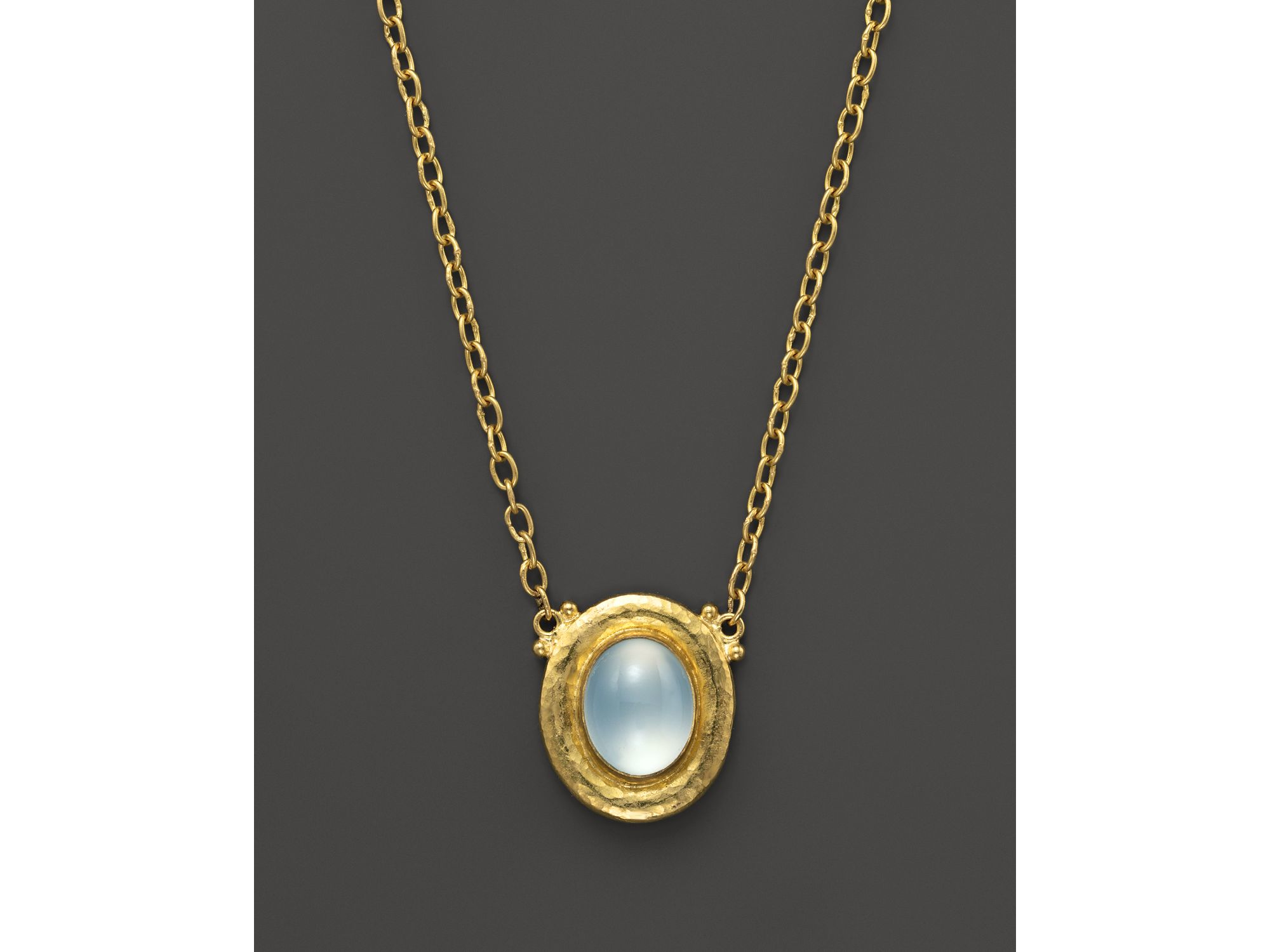 Gurhan Muse Chalcedony Pendant Necklace, Blue