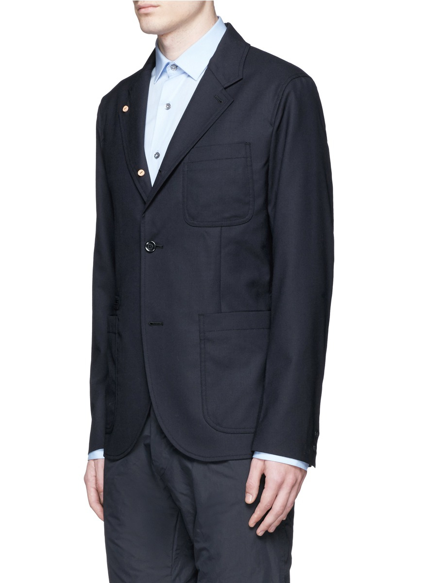 Nanamica Summer Wool Club Jacket in Blue for Men | Lyst