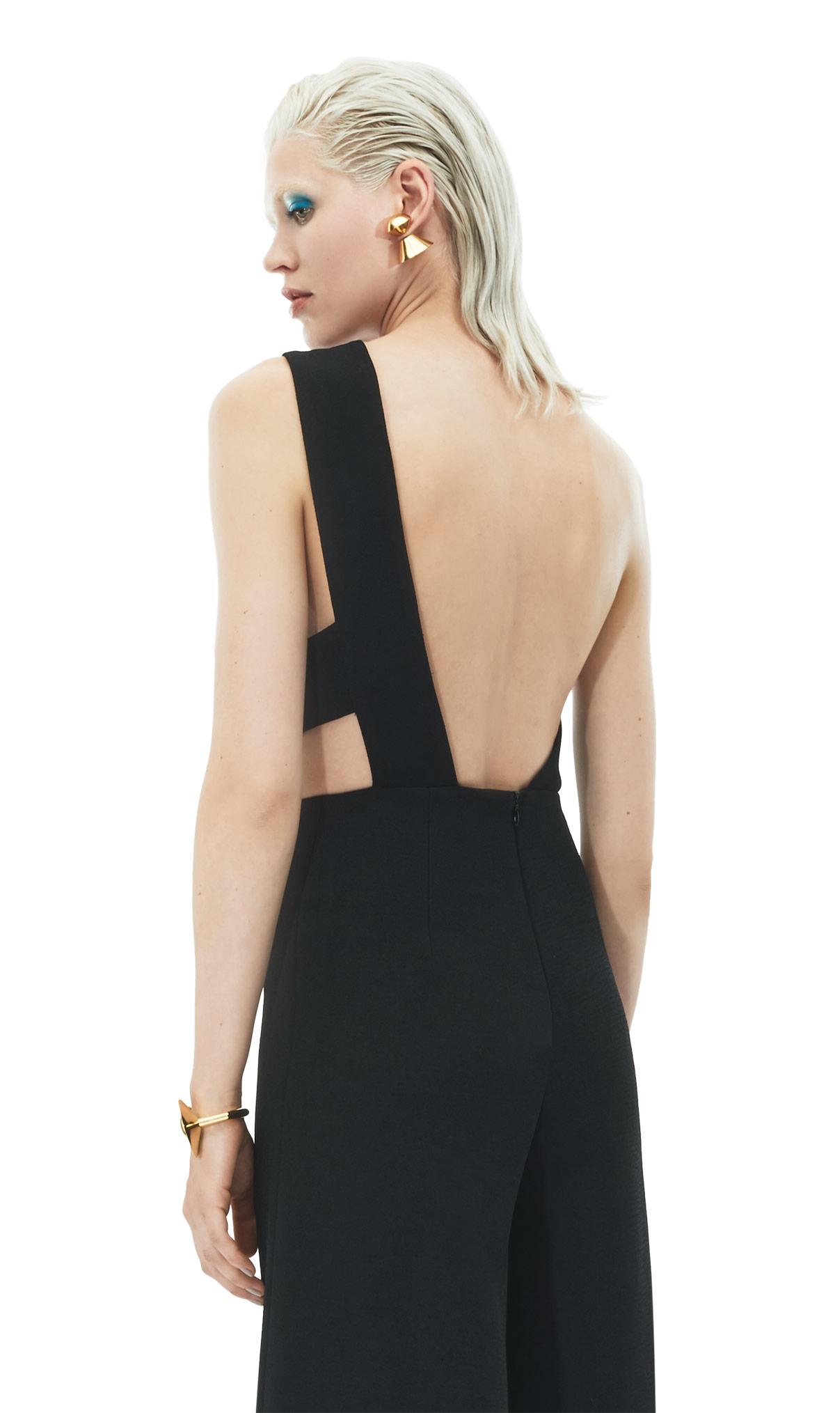 solace london addison jumpsuit black in black lyst. Black Bedroom Furniture Sets. Home Design Ideas