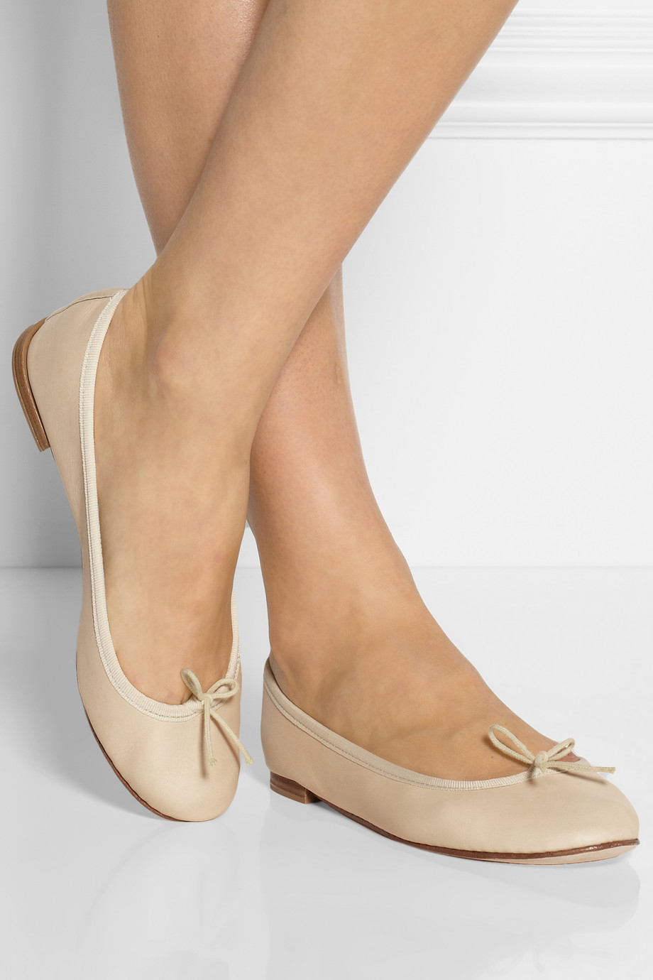 83fdb1bf2b3 Lyst - Repetto The Cendrillon Leather Ballet Flats in Natural