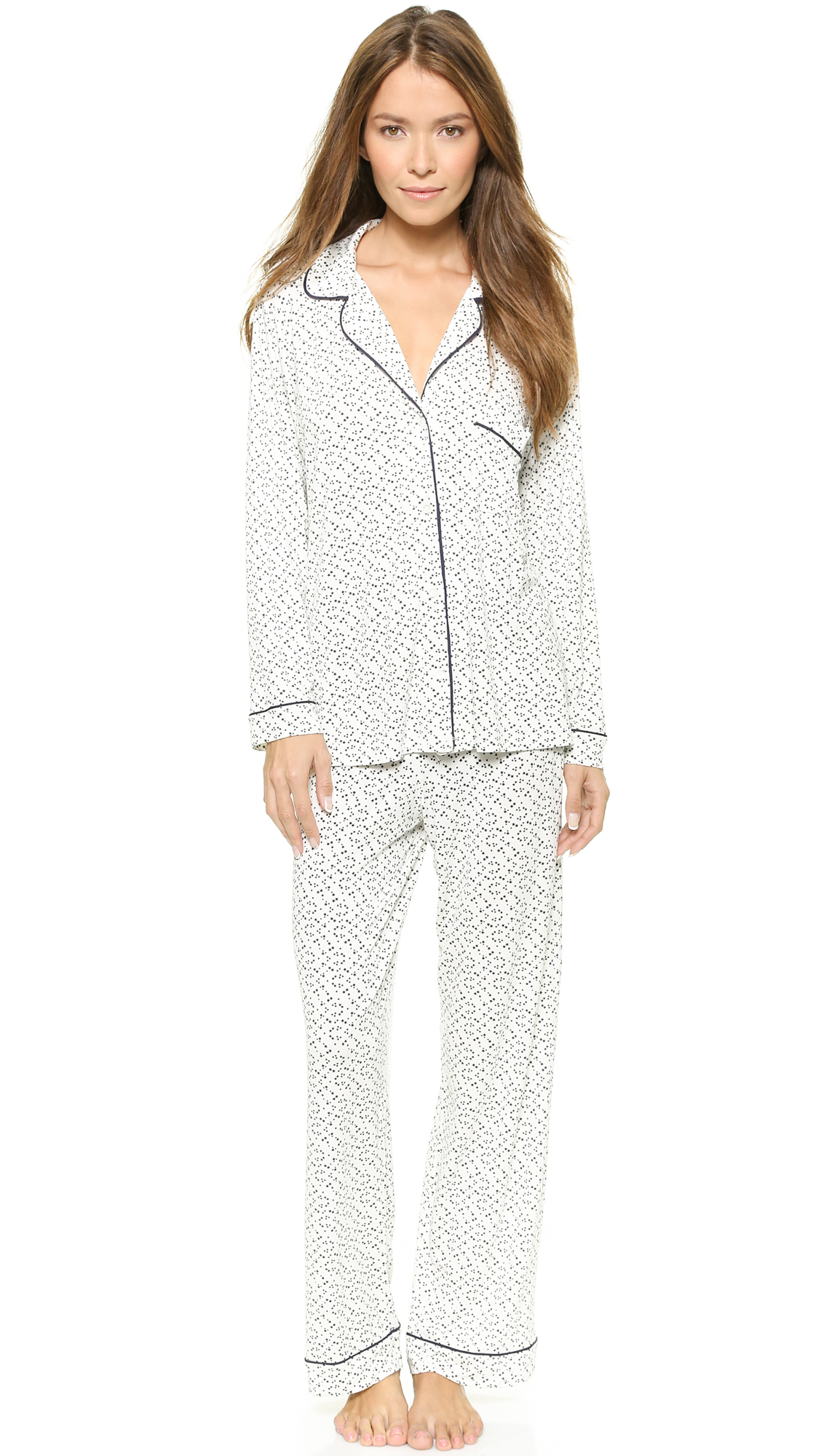 Cheap Sale 2018 New Printed Stretch-jersey Pajama Set - Navy Eberjey Discount Codes Clearance Store Low Price Cheap Online Cheap Pre Order AMJ9DdHKj