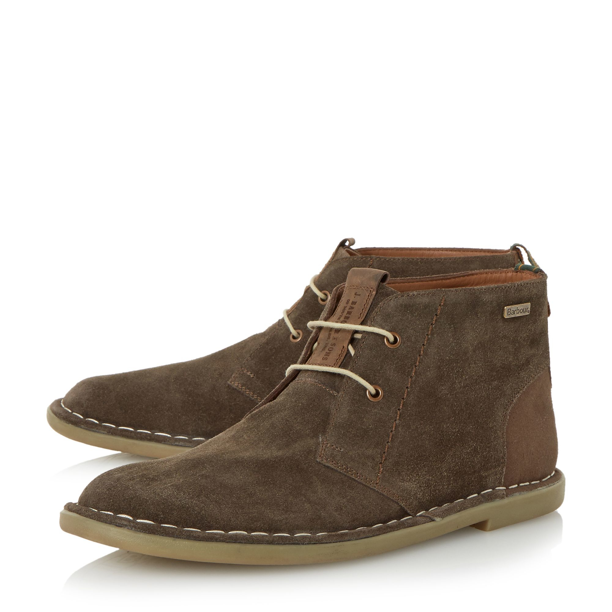 barbour hexham lace up chukka boots in brown for lyst