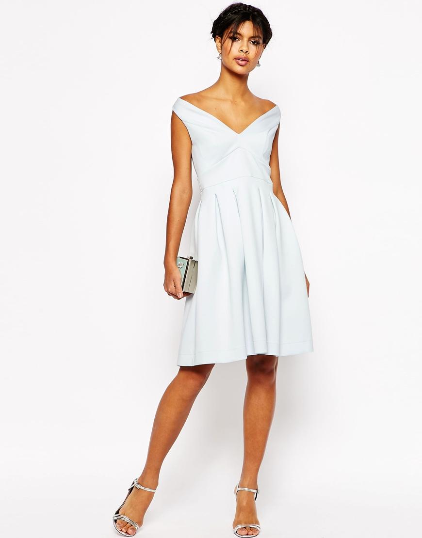 Asos Debutante Midi Dress in Blue | Lyst