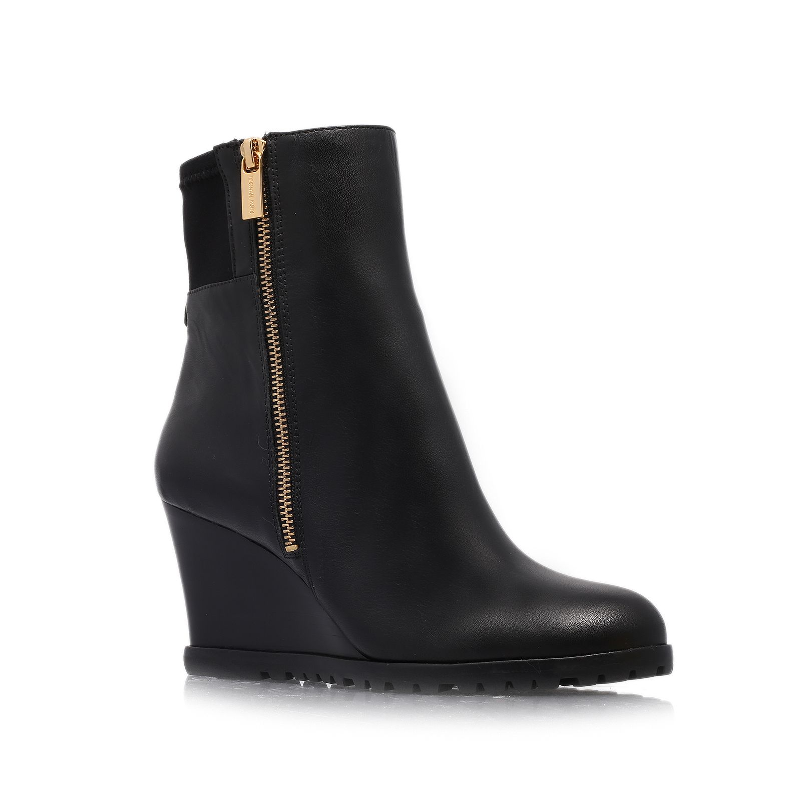 Michael kors Aileen Wedge Ankle Boot in Black | Lyst